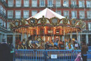 Plaza Mayor at Christmas, Madrid, Spain