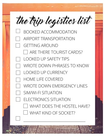 To help make your travels easier, here's a logistical guide to planning a trip. We cover all the little details often forgot in the excitement.