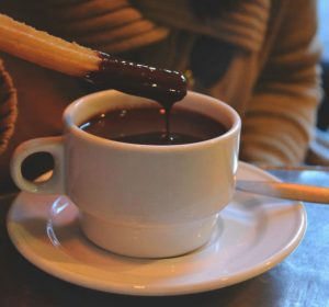 Chocolate con Churros at San Gines, Madrid, Spain