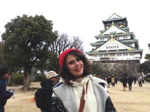 Lauren at Osaka Castle, Japan