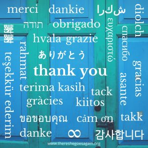 Different ways to say thank you