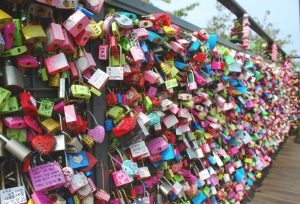 Locks at Namsan Tower, Seoul, Korea