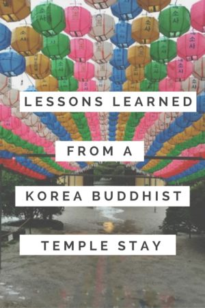While you may not be religious in any aspects, experiencing a Buddhist temple stay will still provide you both an interesting experience and life lessons.