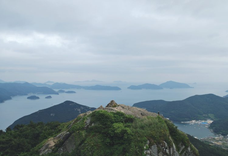 View from the top of Mireuksan, Tongyeong
