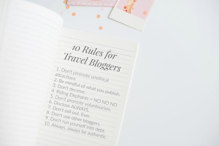 If you care about your audience, genuinely want to put out good content, and just be a caring person, definitely abide by these rules for travel bloggers.