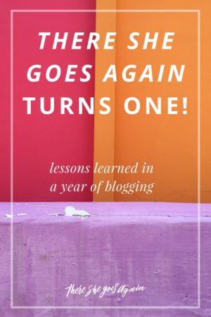 There She Goes Again is celebrating its one year anniversary! Looking back at lessons learned and some exciting wins this past year. Can't wait to do more!