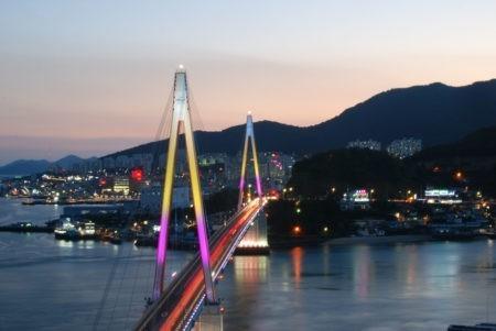 View of Bridge from Dolsan Island, Yeosu