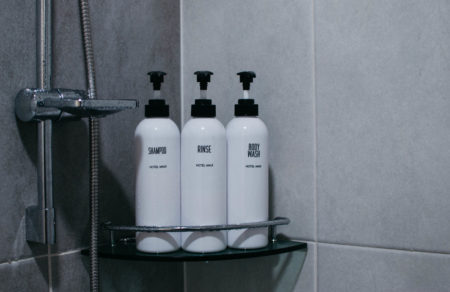 Shot of the shower supplies in Hotel Maui DDM.