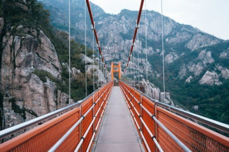 Have you seen photos of the Cloud Bridge? Only accessible via hiking Wolchulsan, it's a must-see in Korea!