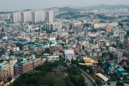 View from Yudalsan in Mokpo, Korea