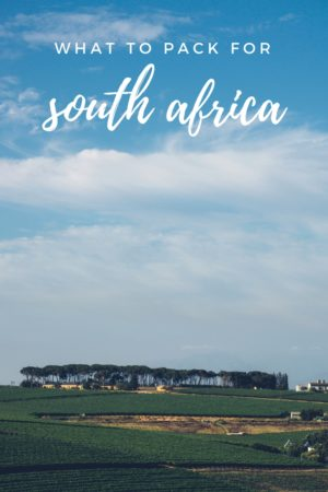 A breakdown of what to pack for a summer trip to South Africa for those who want to remain stylish.