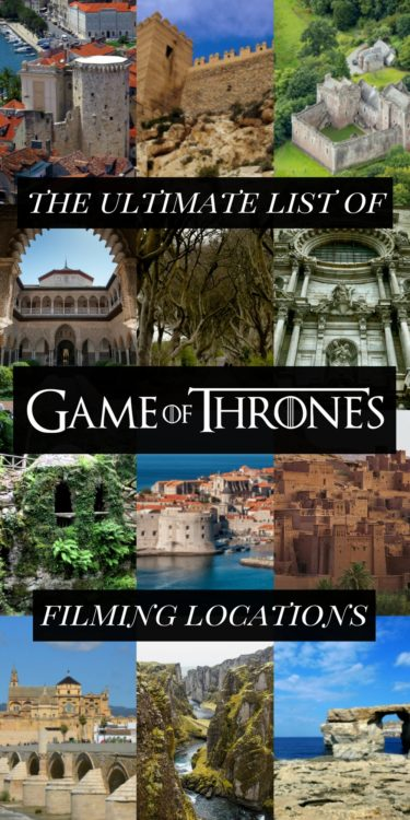 Check out this huge list of ALL the Game of Thrones filming locations.
