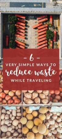 It's important to keep in mind reducing our carbon footprint especially abroad. Check out this for easy ways to reduce waste while traveling.