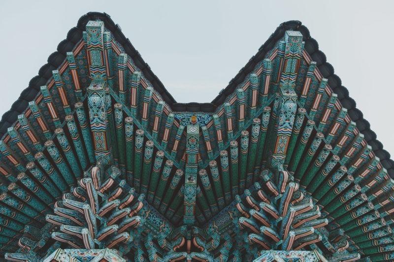 songgwangsa temple ceiling details