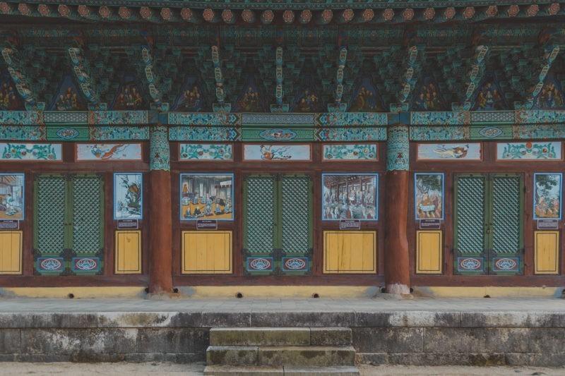 songgwangsa temple door details