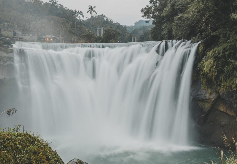 shifen waterfall from observation deck - little niagra