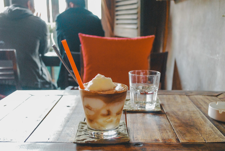 frozen coconut drink from Cong Caphe in Hanoi