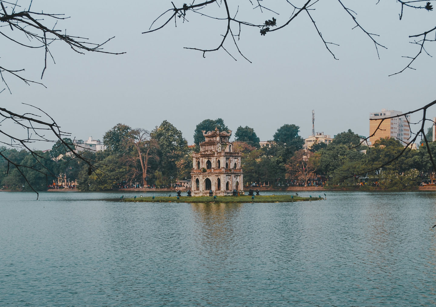 Hoan Kiem Lake around sunset