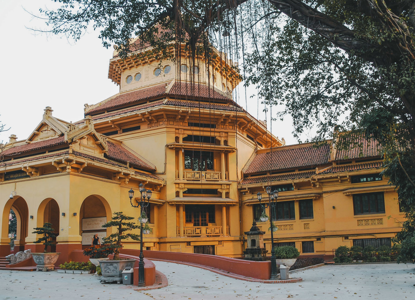Yellow exterior o the National Museum of Vietnamese History