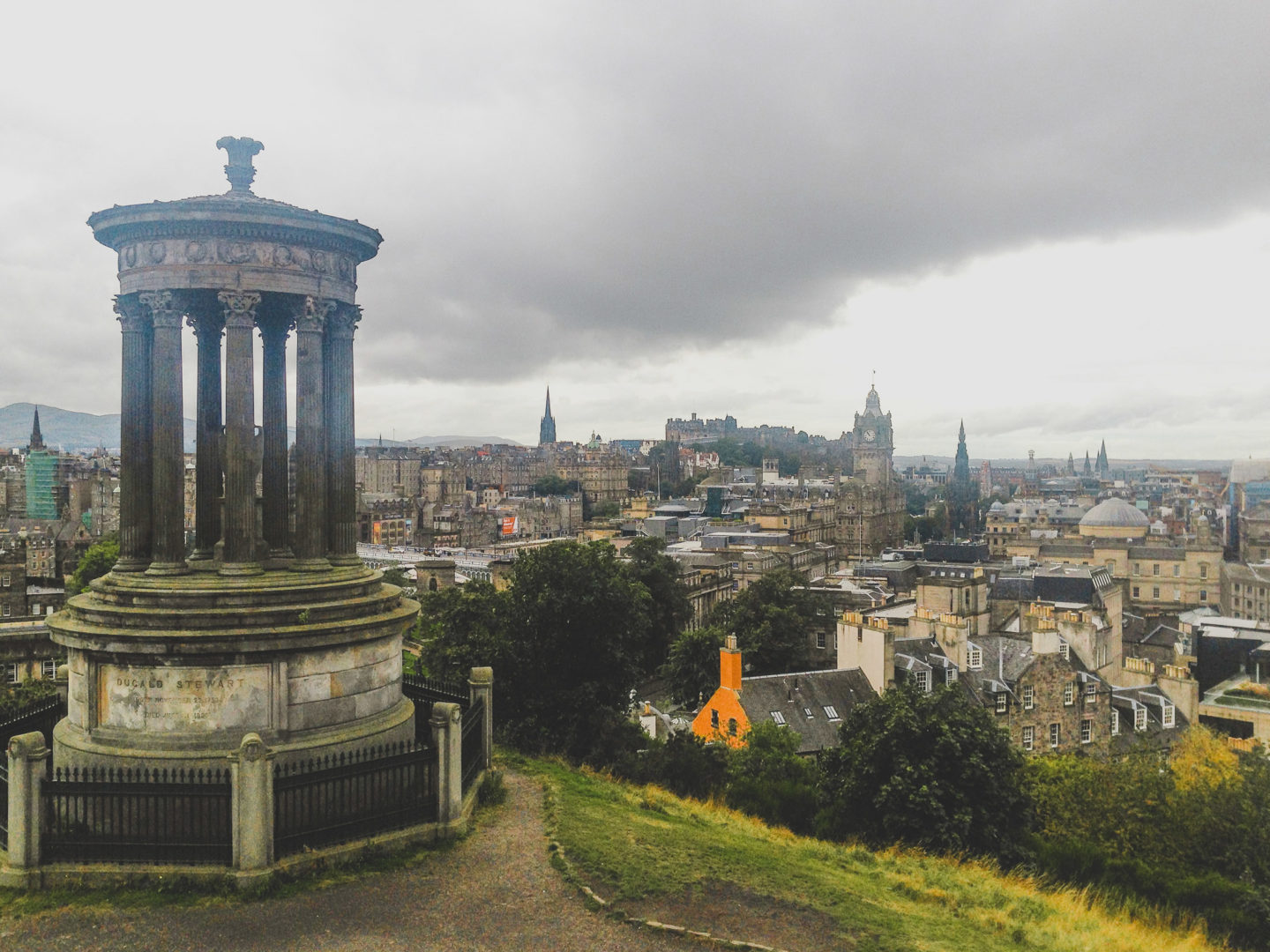 carlton hill and views of Edinburgh, Scotland