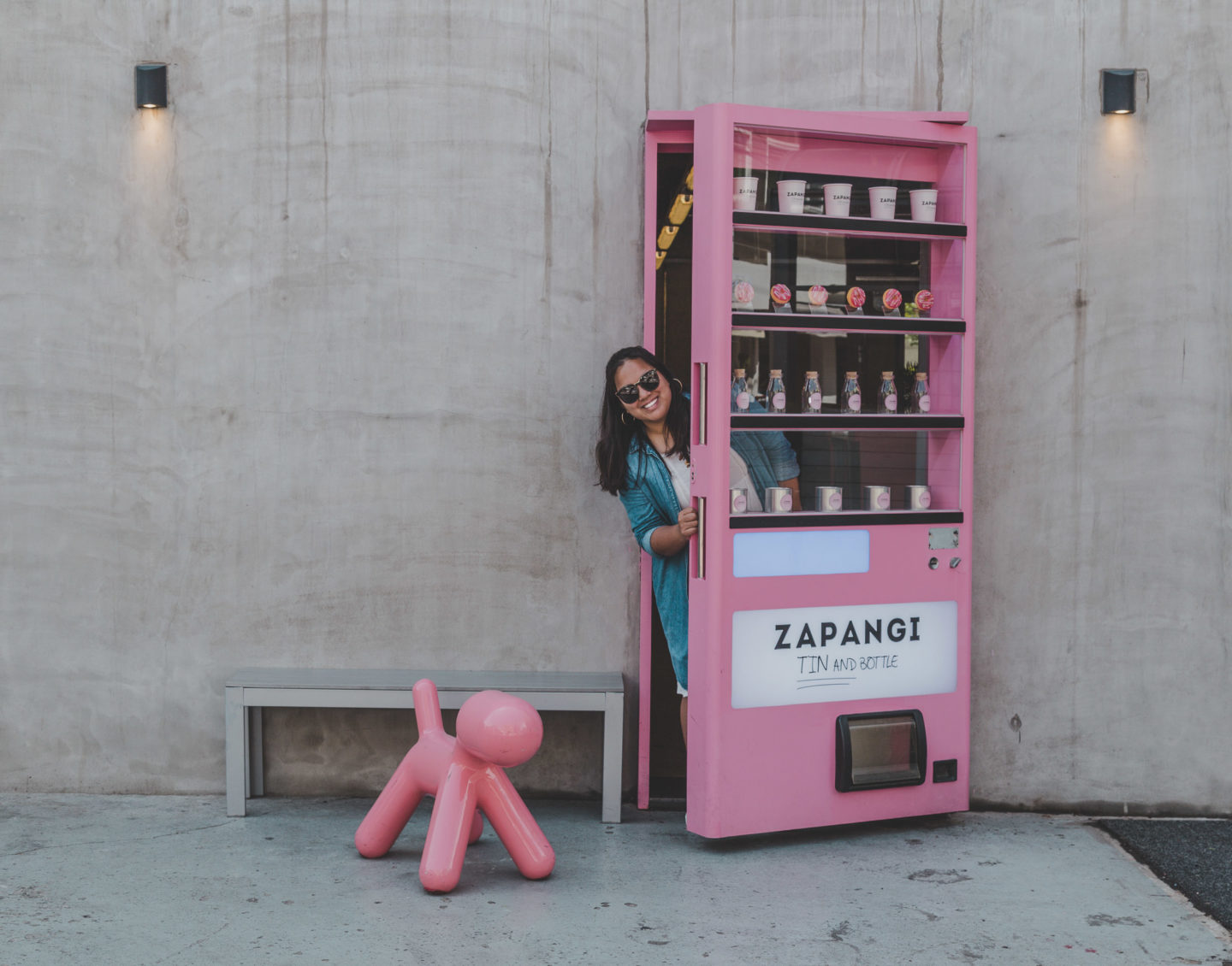 Zapangi Cafe 자판기 The Famous Pink Vending Machine Cafe There She Goes Again