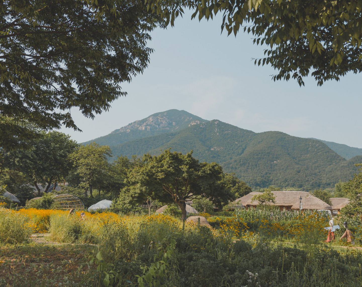 naganeupseong with mountain background