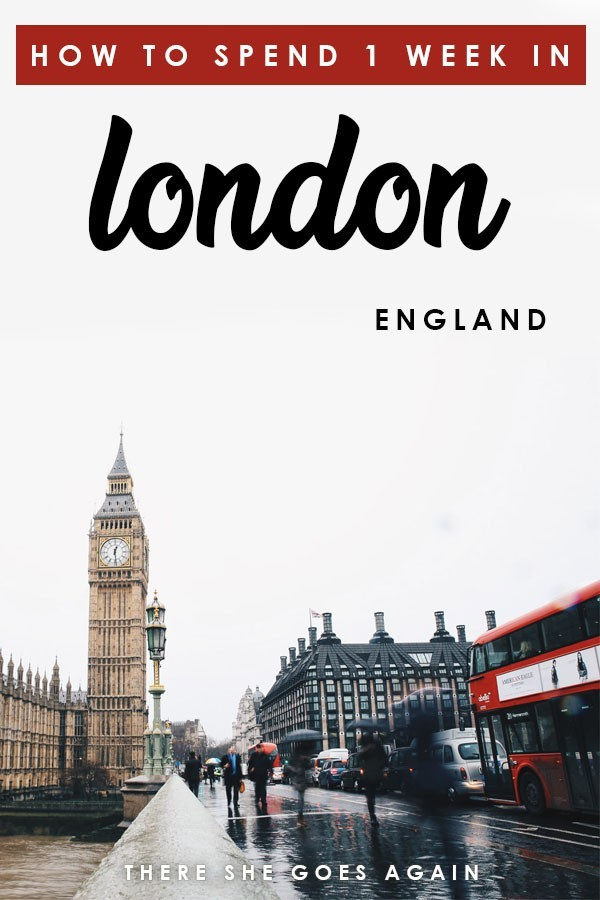 London, England is ICONIC. Here are all the top things to do in London if you only have one week! #london #england #uk #thingstodoinlondon #londonitinerary