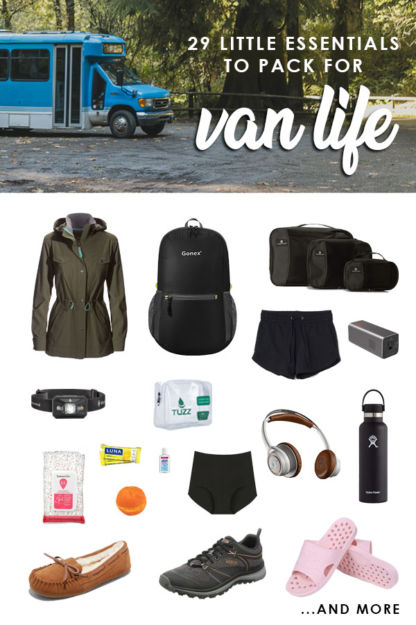 Ready to embark on your first #vanlife adventure? Don't forget these 29 little essentials! #buslife #roadtrip #packingtips