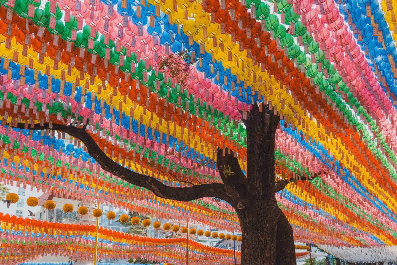 Jogyesa temple decorated for Buddha's Birthday (Korea Bucket List)