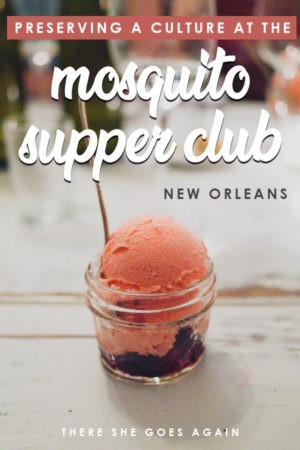 This might be THE most unique thing to do in New Orleans. Spend your evening at the Mosquito Supper Club, an intimate dining experience with soul. #neworleans #thingstodoinneworleans #onetimeinnola #visitnola #louisiana #foodtravel