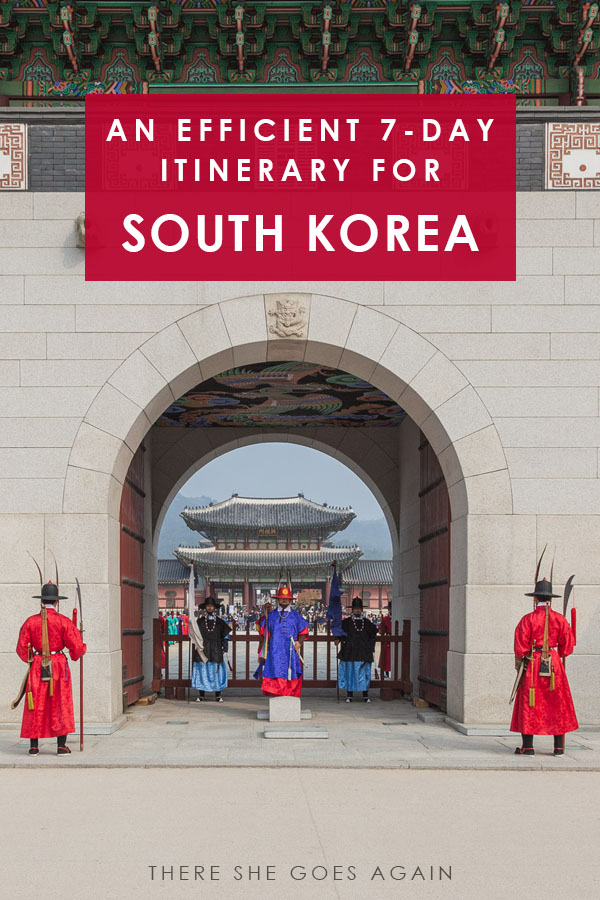 Only have 7 days or a week to travel South Korea? Here's an efficient guide on what to do and what to see! #southkorea #korea #koreaitinerary