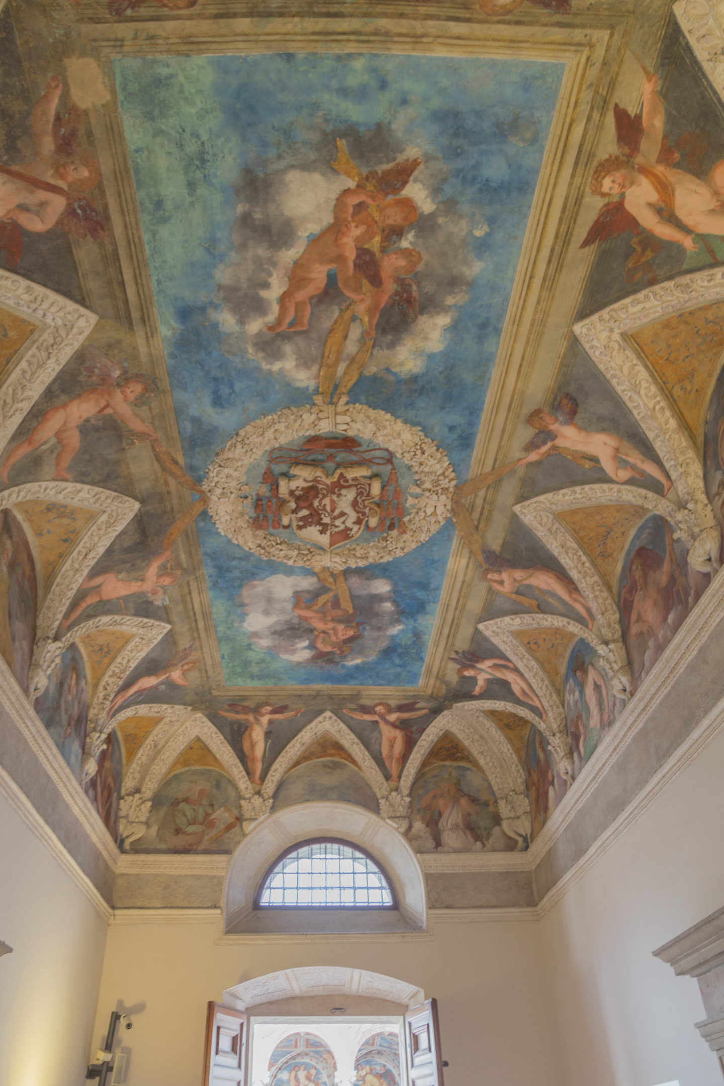 painted ceiling in trento castle