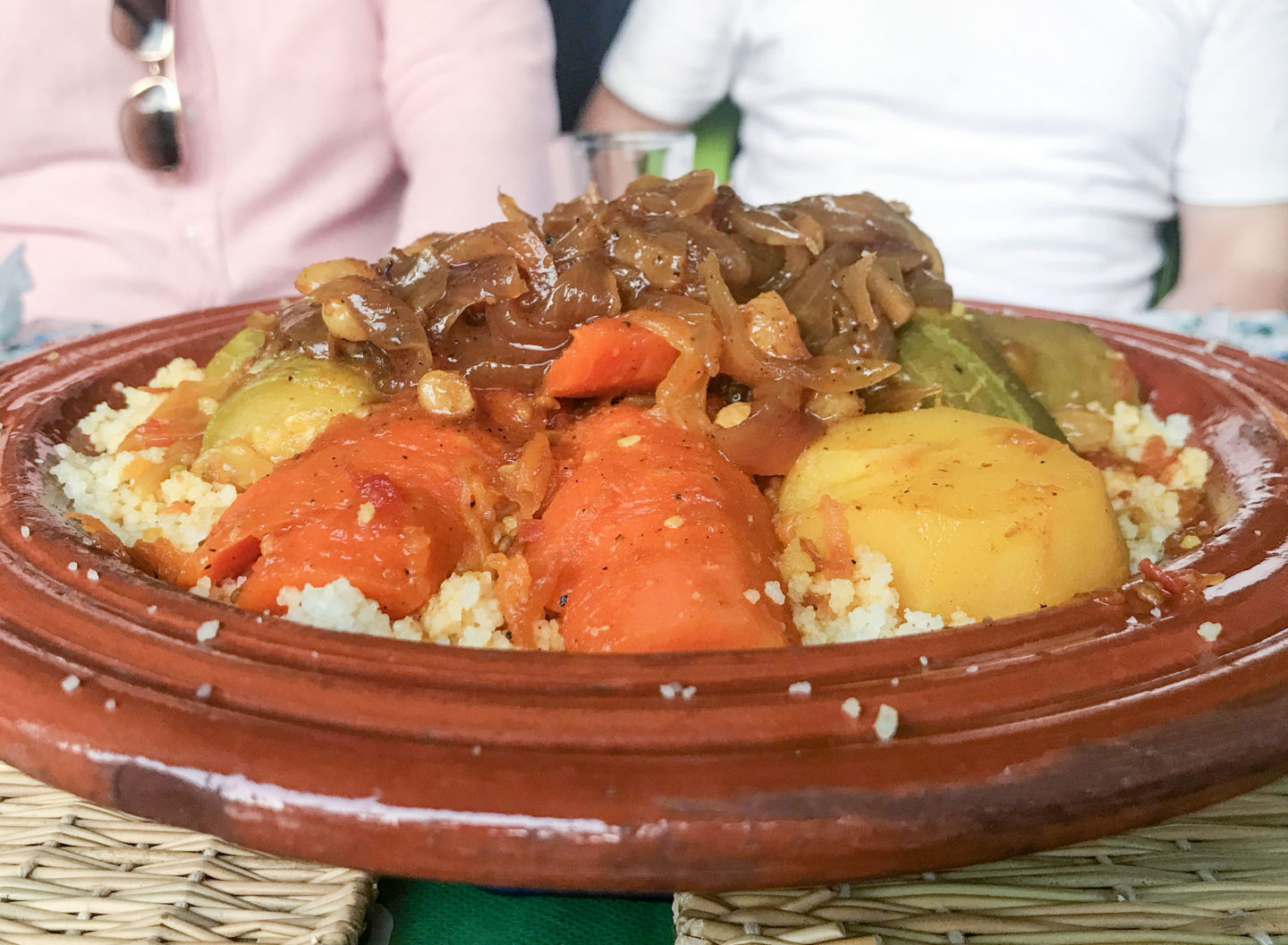 veggie couscous from marrakech food tour