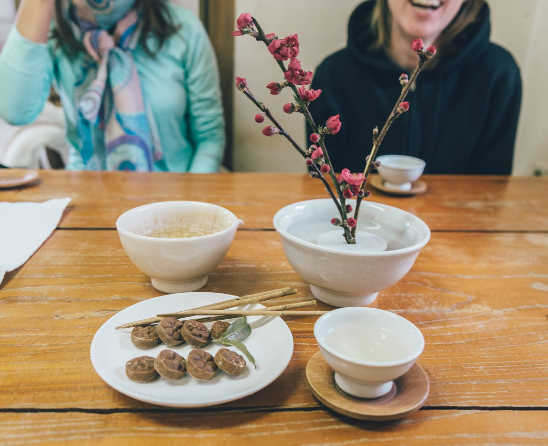 tea ceremony in Seonamsa