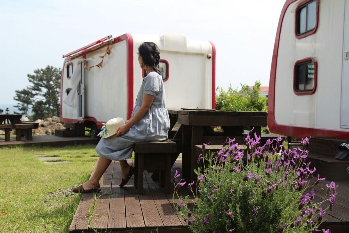 Small Wind Hill Caravan, Jeju, Korea