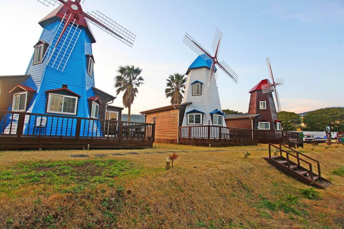 Windmill Accommodation, Jeju, Korea