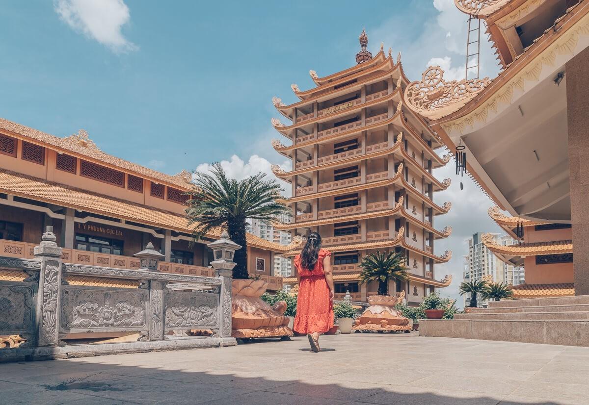 Phap vien Minh Dang Quang, Buddhist Temple, HCMC, Vietnam
