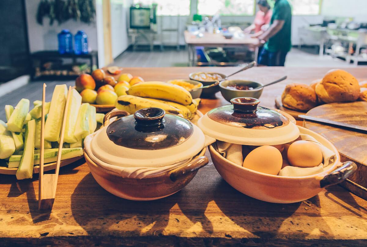 Breakfast at Topas Riverside Lodge, Sapa, Vietnam