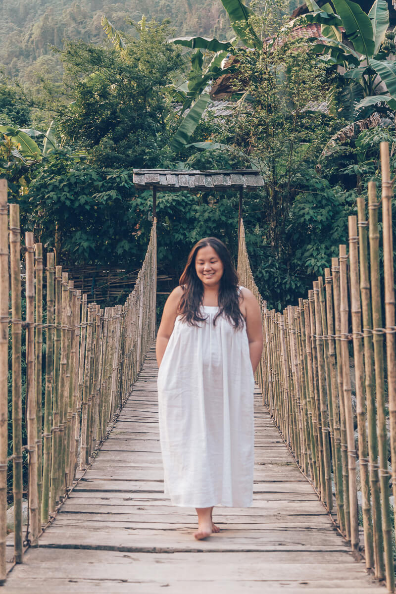 Nora Linen Dress, Topas Riverside Lodge, Sapa, Vietnam