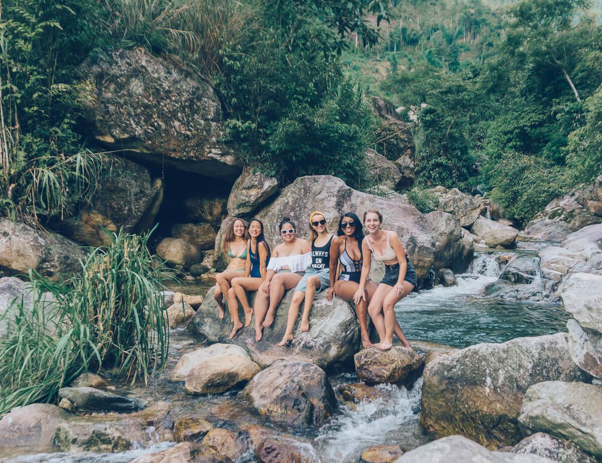 Group pic at Topas Riverside Lodge, Sapa, Vietnam