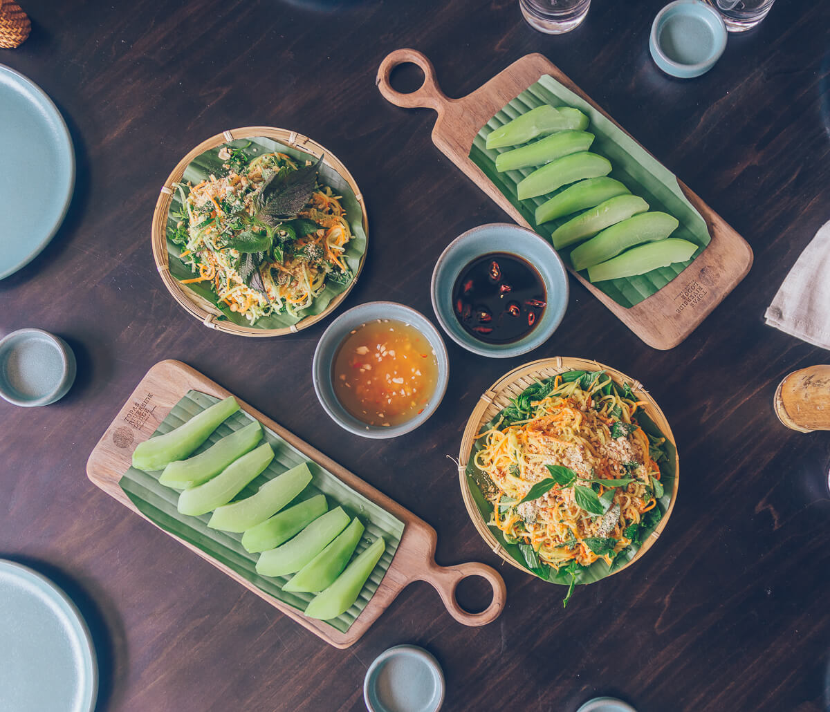 Lunch at Topas Riverside Lodge, Sapa, Vietnam