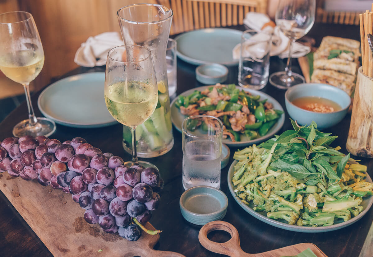 Dinner at Topas Riverside Lodge, Sapa, Vietnam