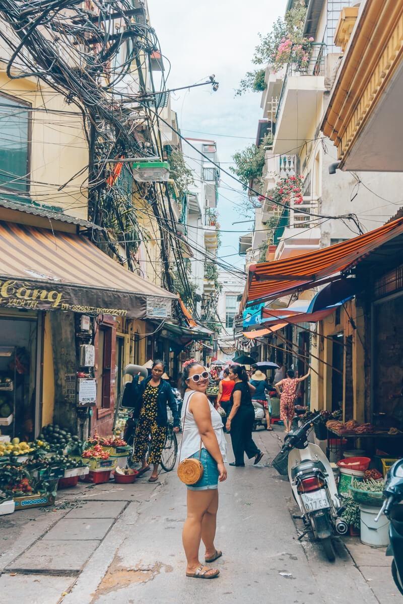 Alleyway in Hanoi, Vietnam
