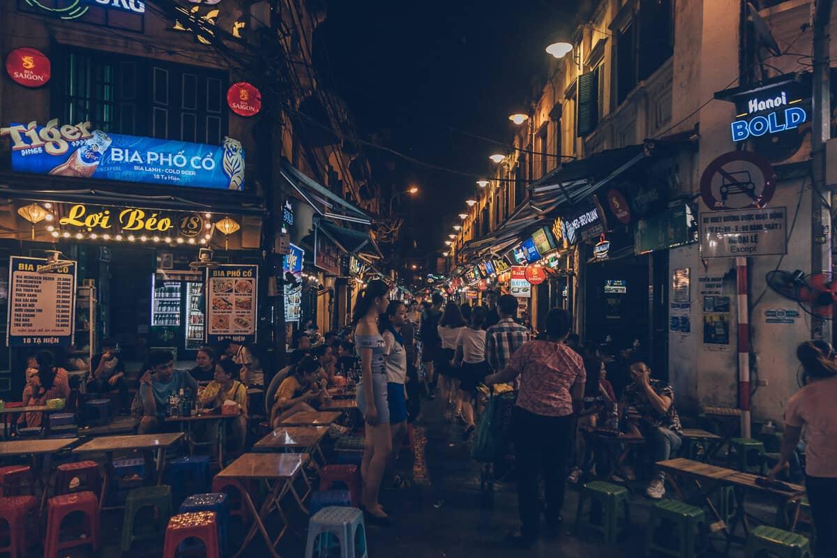 Bia Corner, Hanoi, Vietnam