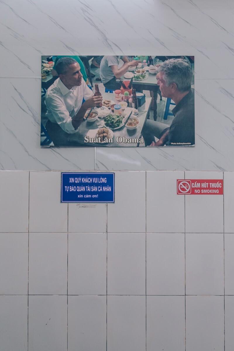 Obama Bun Cha, Hanoi, Vietnam