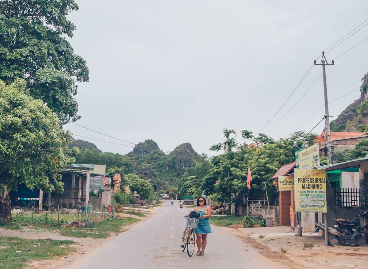 Biking in Phong Nha, Vietnam