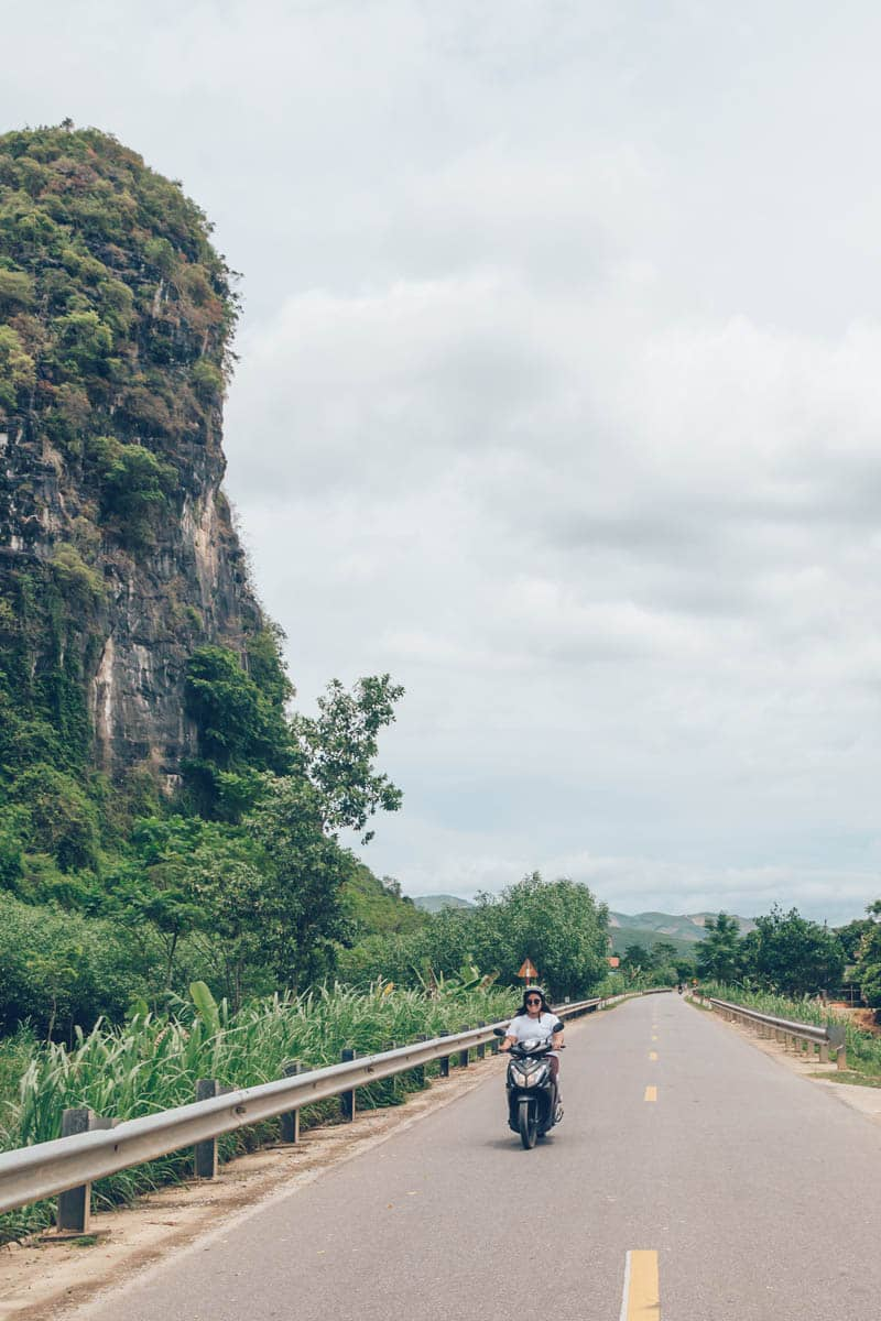 Motorbiking in Phong Nha Ke Bang National Park, Vietnam