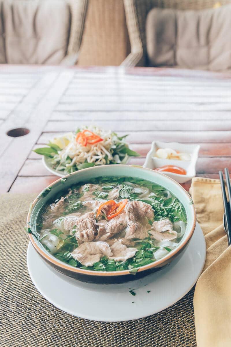 Breakfast at Phong Nha Farmstay, Vietnam