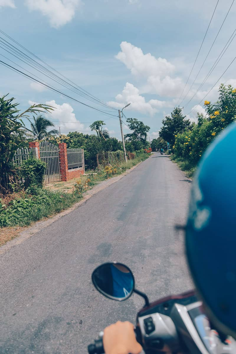 Motorbike on Binh Hoa Phuoc, Vinh Long, Vietnam