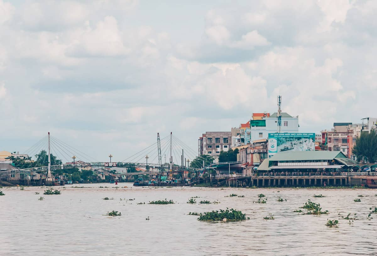 Vinh Long Town from the River, Vietnam